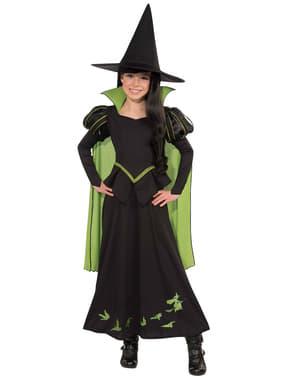 Нечестивата вещица на Запада Костюмът на магьосника от Оз за момиче