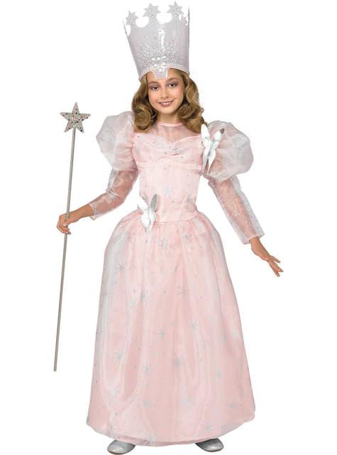 Glinda den Gode Heks Trollmannen fra Oz kostyme for jente