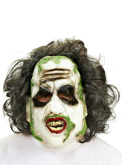 Beetlejuice mask with hair for an adult