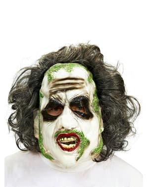 Beetlejuice Maske mit Haaren für Erwachsene