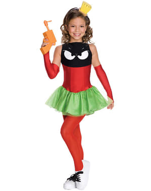 Disfraz de Marvin el Marciano para niña