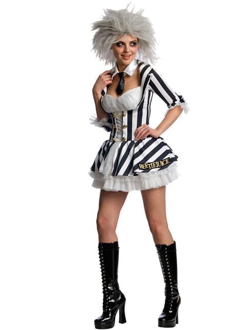 Disfraz de Beetlejuice sexy para mujer