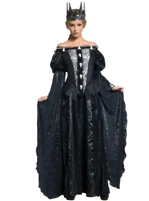 Fato de Rainha Ravenna caveira A Branca de Neve e o Caçador para mulher