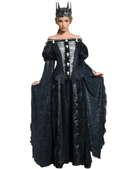 女性用スノーホワイトのラヴェンナ女王衣装