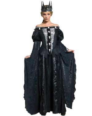 Königin Ravenna Kostüm mit Totenköpfen Schneewittchen und der Jäger