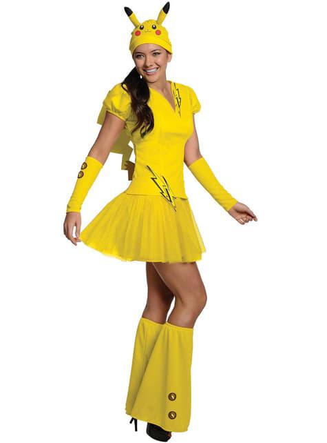 Pikachu Pokemon Kostyme for Dame