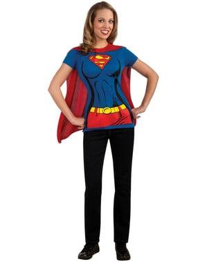 Set van Supergirl kostuum voor vrouw