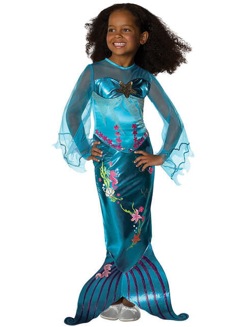 Magical mermaid costume for a girl