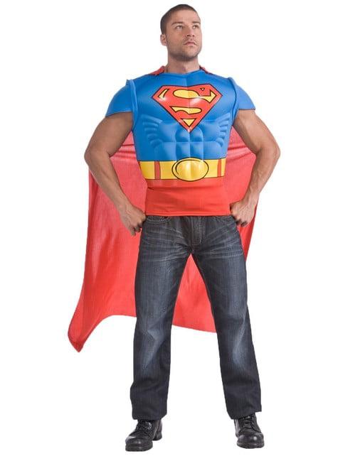 Kit disfraz Superman musculoso para hombre