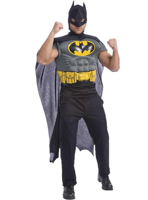 Kit disfraz Batman musculoso para hombre