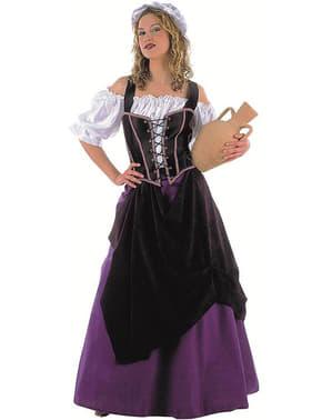 Middeleeuwse serveerster Kostuum