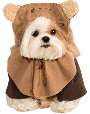 Ewok costume for a dog