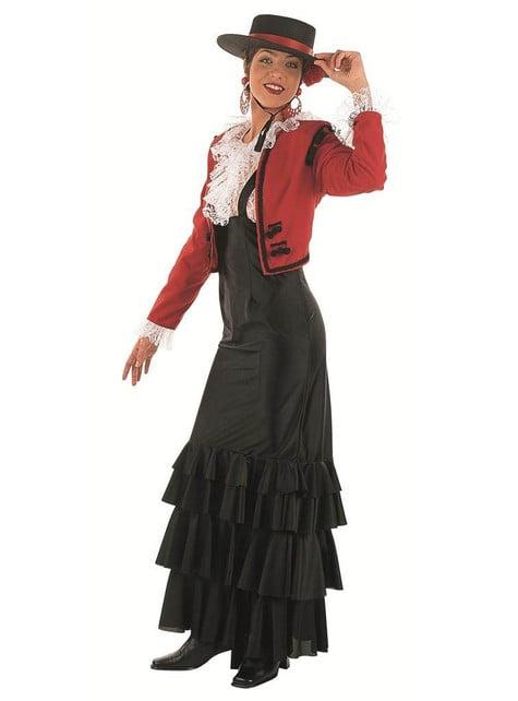 Lær Dame Kostyme Voksen
