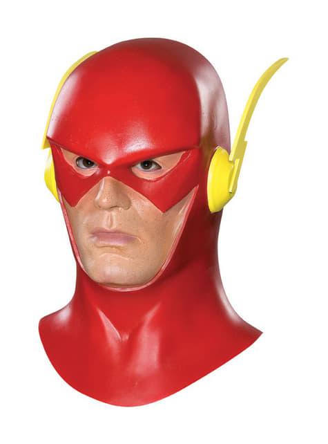 Flash Maske für Erwachsene aus Latex komplett