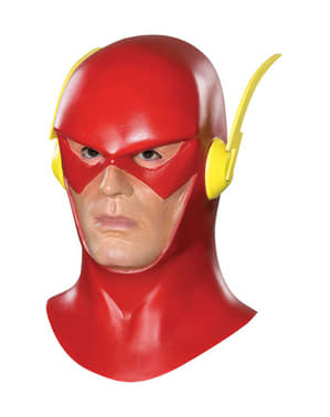 Flash Komplett latexmask Vuxen