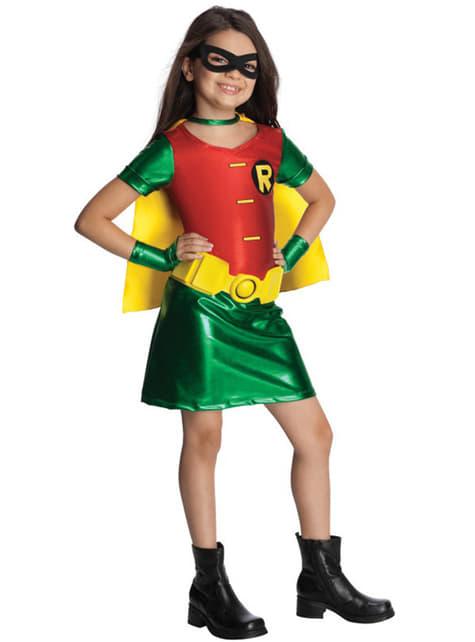 Fato de Robin Teen Titans para menina