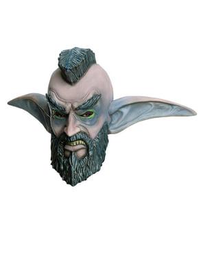 Máscara de Elfo Noturno Moicano World of Warcraft látex para adulto