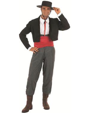 Lær Gentleman Kostyme Voksen