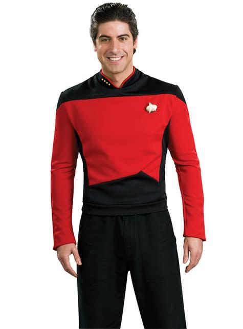 Disfraz de Comandante Rojo Star Trek La Nueva Generación para hombre