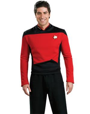 Pánský kostým červený velitel Star Trek