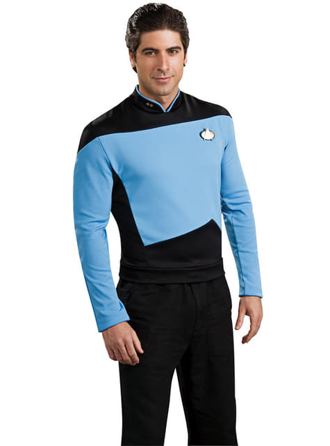 Blue Scientist Star Trek The Next Generation costume for a man