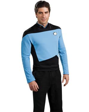 Disfraz de Científico Azul Star Trek La Nueva Generación para hombre