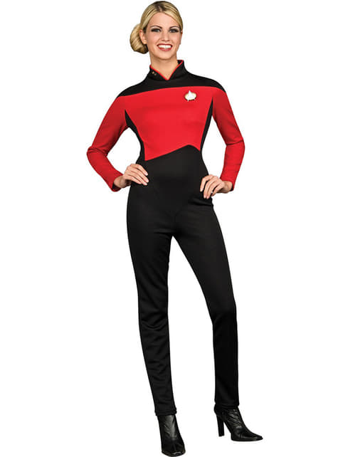 Red Star Commander Star Trek The Next Generation costume for a woman