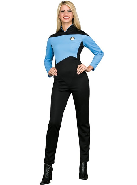 Blue Scientist Star Trek The Next Generation costume for a woman