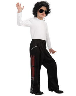 Calças de Michael Jackson Bad para menino