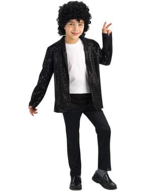 Casaco de Michael Jackson Billie Jean com lantejoulas para menino
