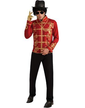 Veste Michael Jackson militaire rouge pour adulte