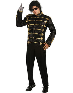 Michael Jackson deluxe black military jacket for an adult
