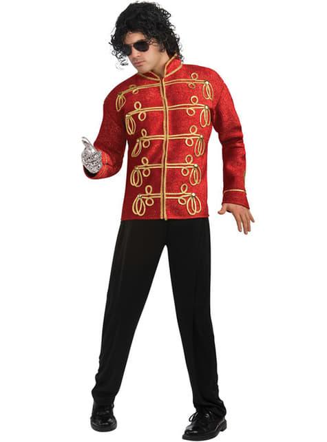 Casaco de Michael Jackson Militar deluxe vermelho para adulto