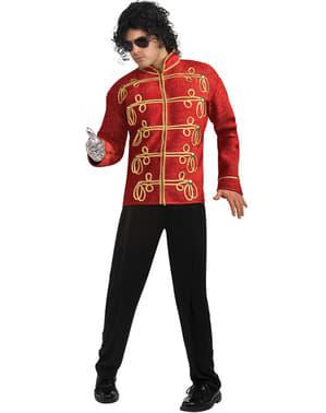 Veste Michael Jackson Militaire Deluxe rouge pour adulte