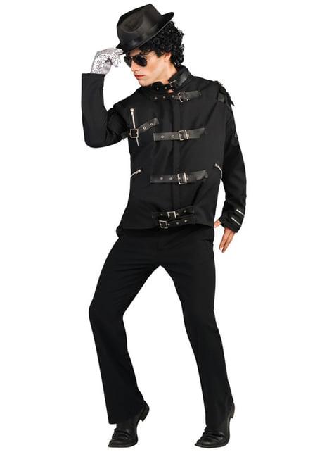 Casaco de Michael Jackson Bad deluxe para adulto