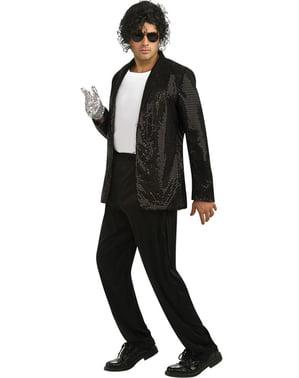Casaco de Michael Jackson Billie Jean deluxe com lantejoulas para adulto