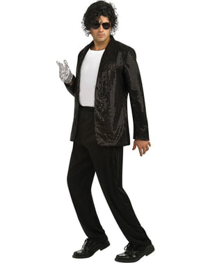 Michael Jackson deluxe Billie Jean kabát flitterekkel felnőtteknek