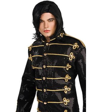 Michael Jackson pruik met zwart steil haar
