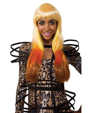 Nicki Minaj Leopardmönstrad peruk