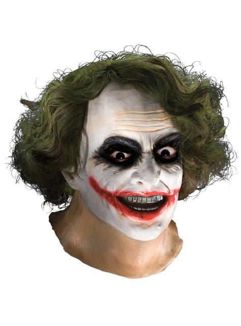 Joker latex maske med hår TDK til voksne
