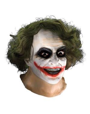 Latexová maska s vlasmi Joker Temný rytier pre dospelých