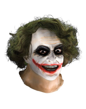Maschera da Joker TDK con capelli in lattice per adulto