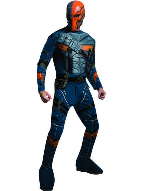 Deathstroke Batman Arkham Franchise muskulær kostyme for mann