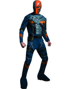 Deathstroke Batman Arkham Franchise muskulær kostyme for mann