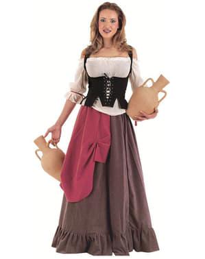 Костюм на средновековна сервитьорка за възрастни