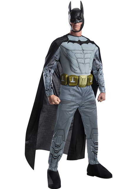 Fato do Batman Arkham Franchise musculoso para homem