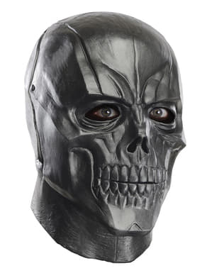 Black Batman Arkham Franchise deluxe latex mask for an adult