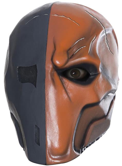Máscara de Deathstroke Batman Arkham Franchise deluxe de látex para adulto