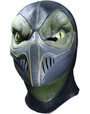 Reptile Mortal Kombat deluxe latex mask for an adult