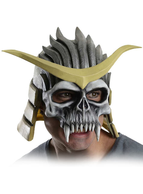 Masque Shao Kahn Mortal Kombat Deluxe en latex pour adulte